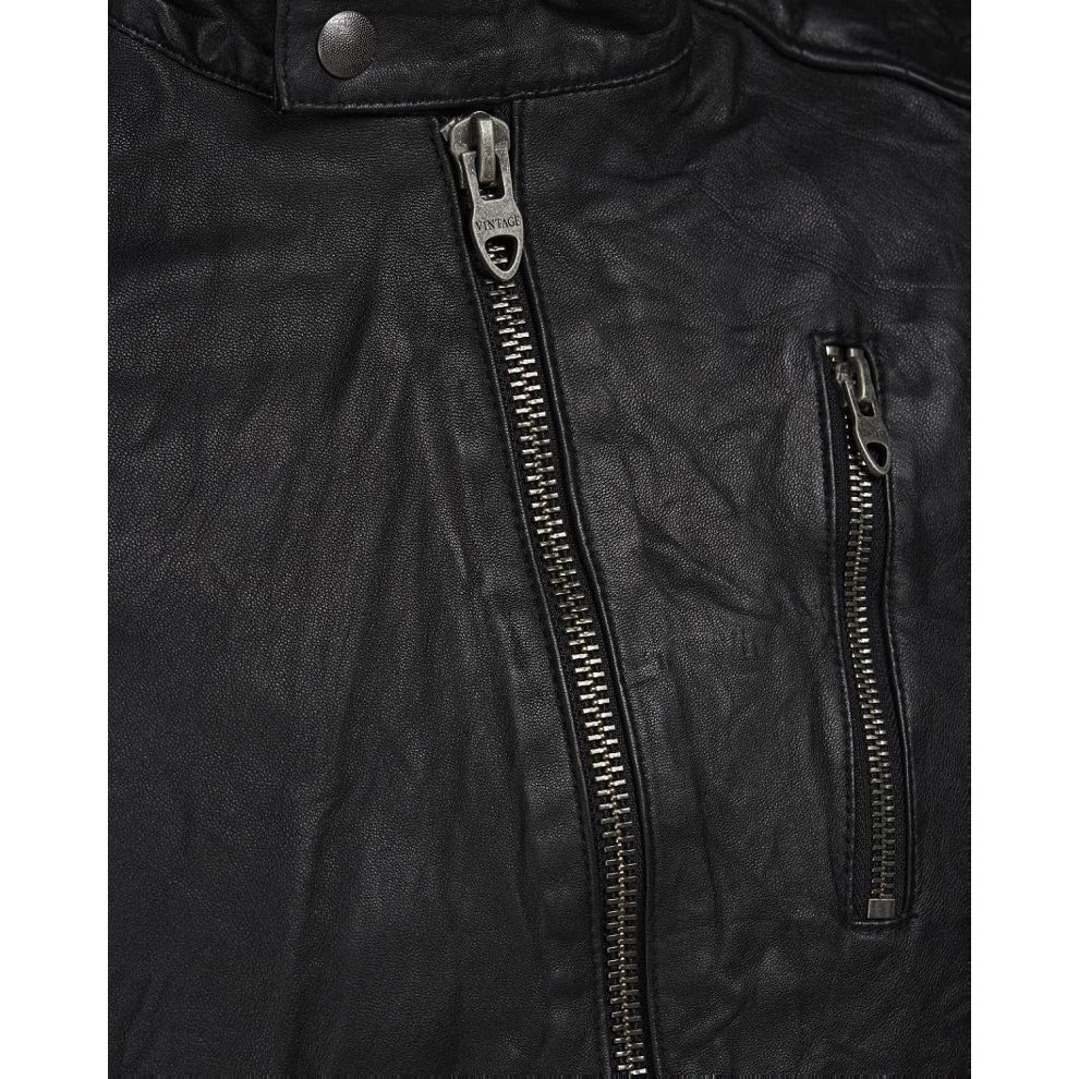 495de97c8569d Black 4skandinavia JJVRICHARD LAMB LEATHER JACKET NOOS Black ...